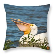The White Pelican Throw Pillow