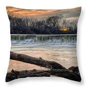 The White River Throw Pillow