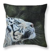 The White Tiger And The Butterfly Throw Pillow