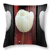 The White Tulip Throw Pillow