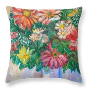 The White Vase Throw Pillow