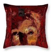 The White Witch Is Burning Throw Pillow