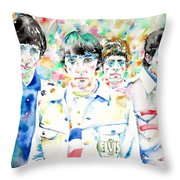 The Who - Watercolor Portrait Throw Pillow