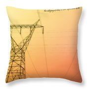 The Whole Body Fitly Joined Together  Throw Pillow