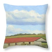 The Whole Farm To Himself Throw Pillow