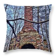 The Wide Open Family Room Throw Pillow