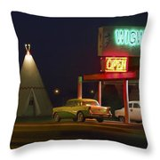 The Wigwam Motel On Route 66 Panoramic Throw Pillow