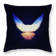 The Wild Wings Throw Pillow