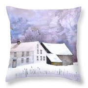 The Wilder Homestead Throw Pillow