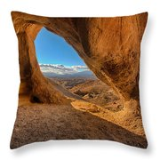 The Wind Caves Throw Pillow