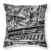 The Winding Stairs Throw Pillow