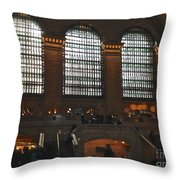 The Windows At Grand Central Terminal Throw Pillow