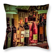 The Wine Shop Throw Pillow