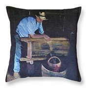 The Winemaker Throw Pillow