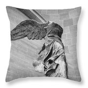 The Winged Victory Throw Pillow by Patricia Hofmeester