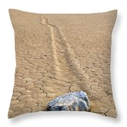 The Winner Death Valley Moving Rock Throw Pillow