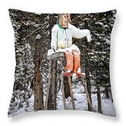 The Winter Greeter Throw Pillow