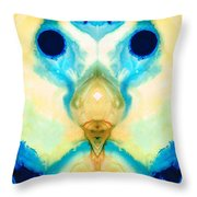 The Wise Ones - Visionary Art By Sharon Cummings Throw Pillow