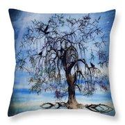 The Wishing Tree Throw Pillow by John Edwards