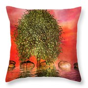 The Wishing Tree One Of Two Throw Pillow by Betsy Knapp