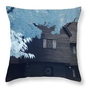 The Witch House In Infrared Throw Pillow