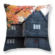 The Witch House Of Salem Throw Pillow