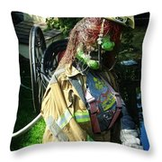 The Witches Fire Department Throw Pillow