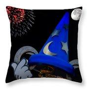 The Wizard Walt Disney World Throw Pillow