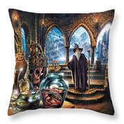 The Wizards Castle Throw Pillow