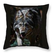 The Wolf Digital Art Throw Pillow