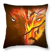The Wolf Is Watching Throw Pillow