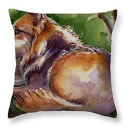 The Wolf Star Throw Pillow