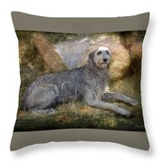 The Wolfhound  Throw Pillow by Fran J Scott