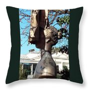 The Woman Behind The Cape Throw Pillow