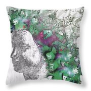 The Woman From Yes Throw Pillow