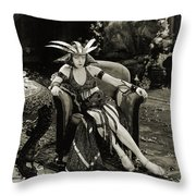 The Woman God Changed Seena Owen 1921 Throw Pillow