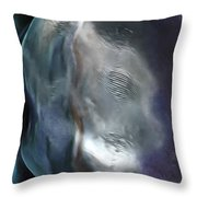 The Woman In The Moon Throw Pillow