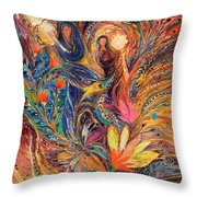 The Women Of Tanakh - Miriam With Timbrels Throw Pillow