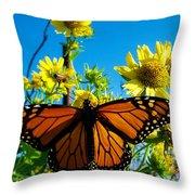 The Wonderful Monarch 3 Throw Pillow