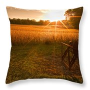 The Wood Cutter Buzz Saw Throw Pillow