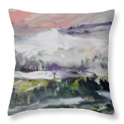 The Wooded Hills Below Throw Pillow