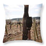 The Wooden Cork Throw Pillow