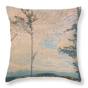 The Wooden Plough Throw Pillow