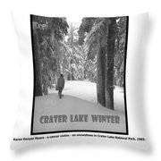 The Woods Are Lovely Throw Pillow