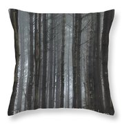 The Woods Throw Pillow by Bill Wakeley