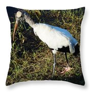 The Woodstork Throw Pillow