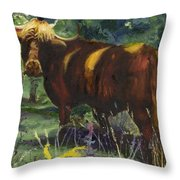 The Woolly Beast Throw Pillow