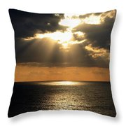 Key West Sunset The Word Throw Pillow