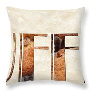 The Word Is Muffins Throw Pillow