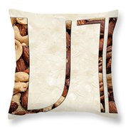 The Word Is Nuts Throw Pillow